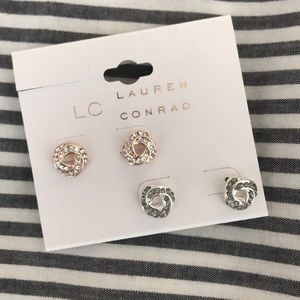 NWT lauren Conrad knot earrings